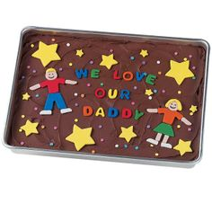 The kids will have a blast cutting the colorful shapes to top Dad's favorite brownies.
