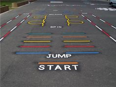 We offer a complete range of playground markings for use on any solid surface. O… We offer a complete range of playground markings for use on any solid surface. Our playground markings are particularly useful … Playground Painting, Playground Games, Preschool Playground, School Hallways, School Murals, Natural Playground, Outdoor Playground, Outdoor Classroom, Outdoor School