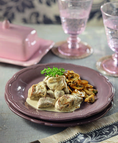 psaronefri me roz saltsa Love Food, Recipies, Stuffed Mushrooms, Food And Drink, Pork, Pudding, Beef, Vegetables, Cooking