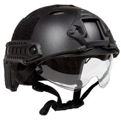 Lancer Tactical Fast PJ Type Basic With Visor Airsoft Helmet Airsoft is cool.. Be cool by visiting us http://airsoftgunsstore.com