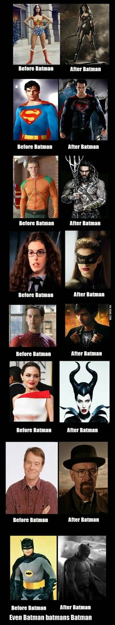History Discover Batman DC Marvel Disney etc. - Hilarious - The Batman Effect Dc Memes Funny Memes Hilarious Beste Comics Im Batman Funny Batman Batman Facts Batman Jokes Superman Hero Marvel, Marvel Vs, Marvel Dc Comics, Im Batman, Spiderman, Batman Stuff, Batman Jokes, Batman Facts, Batman Superhero