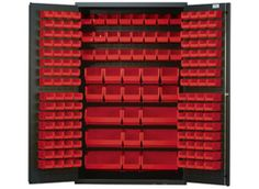 Plastic Storage Bins has the lowest prices on Plastic Bins, Plastic Containers and Wire Shelving Units with shelf bins or stacking bins. Shelf Bins, Storage Rack, Storage Cabinets, Storage Shelves, Storage Organization, Plastic Container Storage, Plastic Bins, Plastic Containers, Storage Containers