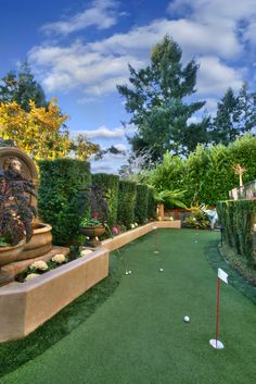 :: Putting Green :: VDB Estates brings together the finest collection of luxury real estate, luxury Golf Putting Green, Backyard Putting Green, Golf Green, Backyard Retreat, Backyard Landscaping, Backyard Ideas, Backyard Sports, Luxury Real Estate, Luxury Homes