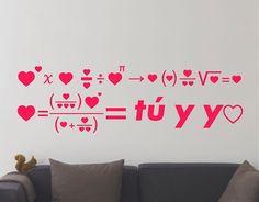 """Decoración de interiores con vinilos románticos """"La fórmula del amor"""""""