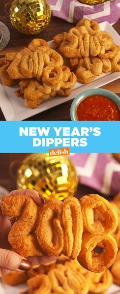 These New Year's Dippers are the ultimate drunk snack. Get the recipe at Delish.com. #recipe #easyrecipe #delish
