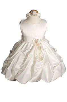 AMJ Dresses Inc Baby-girls Ivory Flower Girl Wedding Dress Sizes S to 4t  Sale:$34.99