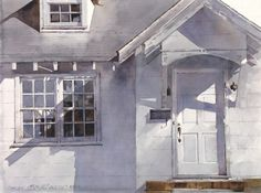 Dean Mitchell - Artist Showcase Opens August :: Astoria Fine Art Gallery in Jackson Hole Watercolor Architecture, Watercolor Landscape, Landscape Art, Landscape Paintings, Landscapes, Urban Landscape, Watercolor Artists, Watercolor Paintings, Watercolors