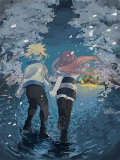 Anime: Naruto Personagens: Namikaze Minato e Uzumaki Kushina Naruto Minato, Anime Naruto, Comic Naruto, Naruto Cute, Wallpapers Naruto, Naruto Wallpaper, Animes Wallpapers, Naruto Family, Naruto Couples