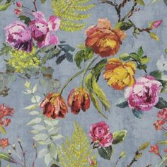 Buy Tulipani in Graphite, a feature wallpaper from Designers Guild, featured in the Caprifoglio collection from Fashion Wallpaper. Flowers Wallpaper, Linen Wallpaper, Home Wallpaper, Designers Guild Wallpaper, Designer Wallpaper, Motif Floral, Floral Design, Fabric Patterns, Print Patterns