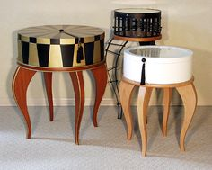 HAT BOX TABLES wonderful fun accent for your home or business, they will do custom for you