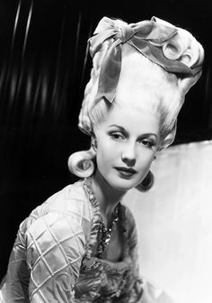 Anita Louise sports a style hairdo in Marie Antoinette in 1938~♛