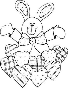 Easter Coloring Pages - Bunny Easter Coloring Pages, Coloring Book Pages, Coloring For Kids, Coloring Sheets, Easter Projects, Easter Crafts, Pintura Country, Easter Printables, Applique Patterns