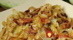 Dusená kapusta s cibuľou, slaninkou a cesnakom