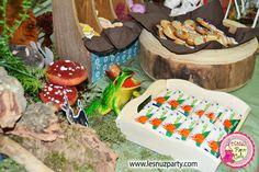 Lesnuzparty cumple Shrek chocolatinas Far Far away y rey rana - Shrek party themed Far Far away chocolate