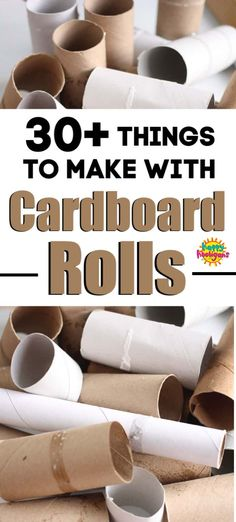 Cardboard Crafts Tons of ideas here for art, crafts and activities using toilet paper rolls, paper towel rolls, poster tubes, wrapping paper tubes and more! Paper Towel Roll Crafts, Paper Towel Tubes, Paper Towel Rolls, Toilet Paper Roll Crafts, Toilet Paper Tubes, Toilet Roll Art, Paper Towels, Crafts For Kids To Make, Diy Crafts For Kids
