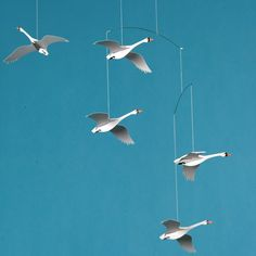 head over heels for this nordic swan mobile! who says mobiles are only for babies?