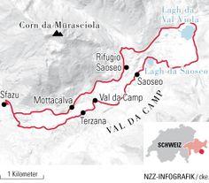 Wandern zum märchenhaften Lagh da Saoseo   NZZ Travel Around The World, Trekking, Hiking, Map, Switzerland, Wanderlust, Travel, Road Trip Destinations, Destinations