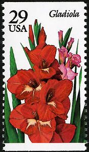 """Stamps from this """"Garden Flowers"""" series celebrated gardening, summer's most verdant hobby."""
