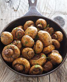 Easy Baked Garlic Mushrooms Recipe