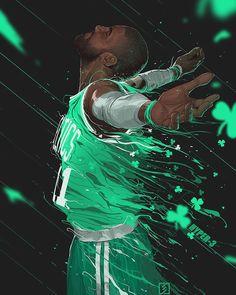 いいね!6,745件、コメント140件 ― HYPER-3さん(@hyper_three)のInstagramアカウント: 「Green light #kyrieirving #Irving #bostonceltics #Boston #nbaart #nba #artwork #illustration」