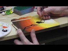 Beginners acrylic painting tutorial - Dawn Bird - YouTube