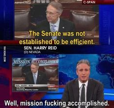 Funny pictures about Mission accomplished Senate. Oh, and cool pics about Mission accomplished Senate. Also, Mission accomplished Senate. Jon Stewart Stephen Colbert, John Stewart, Jonathan Stewart, John Oliver, The Daily Show, Our Lady, The Funny, Funny Lady, Laugh Out Loud