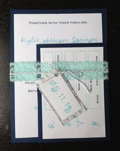 Fun Rustic Twine and Lace Wedding Invitation Suite - Deposit to Start Ordering Process