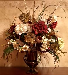 Excited to share this item from my shop: Gorgeous Extra Large Designer Statement Tuscan Floral Arrangement Hydrangeas Custom Designs Available Large Flower Arrangements, Silk Floral Arrangements, Floral Centerpieces, Centrepieces, Tuscan Design, Tuscan Style, Style Toscan, Church Flowers, Mediterranean Home Decor
