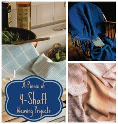 Summer is a time for light, airy weaves--perfect for a picnic! Here are some 4 shaft weaving patterns to add to your collection, all inspired by a summer picnic!