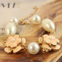 5 leaves flower pearl bracelet