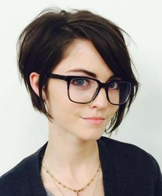 Hipster Long Pixie Hairstyle
