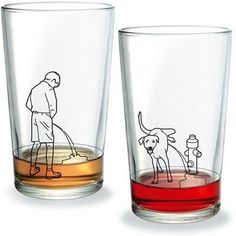 These are very funny drinking glasses made by the German company Donkey Products. If you're not a beer drinker, you can certainly say that . Funny Shot Glasses, Nice Glasses, Copo Drink, Fun Shots, Drinking Glass, Mug Designs, Pint Glass, Cool Stuff, Sharpie Mugs