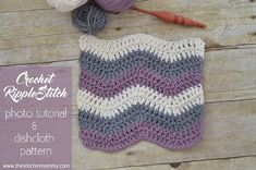 This Ripple Dishcloth was designed by Amy Ramnarine. You will need Medium Weight Yarn [4] and a 5.5 mm (I) hook for this project. The finished dishcloth measures 9 inches square. A tutorial is included.
