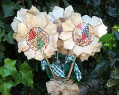 Cutter Quilt Flower...Old Vintage Quilt by mosprettythings on Etsy