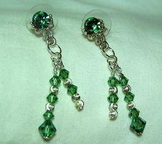 Shimmering Swarovski Ernite Crystal Earrings handmade by SidewingCreations