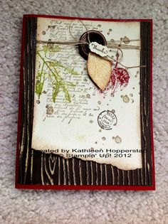by Kathleen Hopperstad, My Happy Stampin' Place-fall thank you