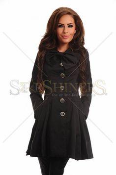 LaDonna Sweet Burden Black Trechcoat