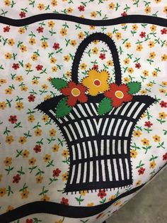 """Vintage Curtain Fabric With Basket Border 35"""" x 260"""""""