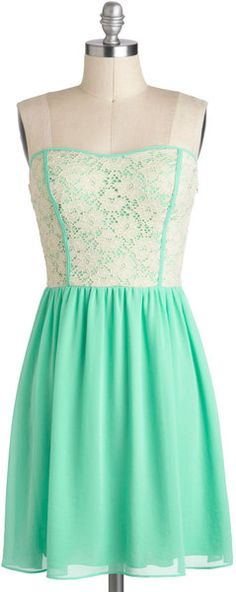 Modcloth Glowing Places Dress in Green (mint) - Lyst