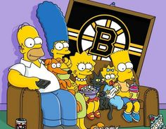 Simpsons Characters, Fictional Characters, Boston Bruins Logo, Digital Foto, Tv Shows Funny, Boston Sports, Film D'animation, The Simpsons, Drawing