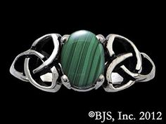 Malachite of Luck and Success Double Triskele Triquetra Gemstone Ring in Sterling Silver >>> Want additional info? Click on the image.