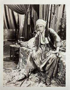 Portrait of Rudolph Valentino from The Son of the Sheik.
