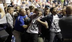 Trump supporter punches black protester at rally http://www.gopusa.com/trump-supporter-punches-black-protester-at-rally/