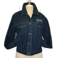 NFL Tennessee Titans Denim Trucker Jacket Medium Reebok Football Fan Apparel #Reebok #TennesseeTitans