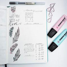 "2,500 Likes, 16 Comments - Roz • bullet journal•studygram (@rozmakesplans) on Instagram: ""It looks so clean at the start of the week. #bulletjournal #bulletjournaling #planner #bujo"""