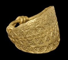 """""""Viking Gold Ring with Stamped Triangles, 9th-11th Century AD"""""""