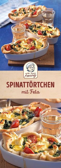 Spinach tart with feta - Eat smarter - gesunde snacks, low carb - Pizza Recipes Mushroom Pizza Recipes, White Pizza Recipes, Veggie Recipes, Gourmet Recipes, Vegetarian Recipes, Pizza Recipe No Yeast, Sausage Pizza Recipe, Deep Dish Pizza Recipe, Spinach Tart