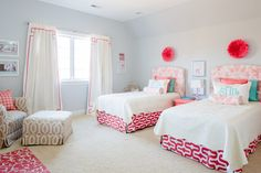 Shared Girls Room - so sweet and chic!