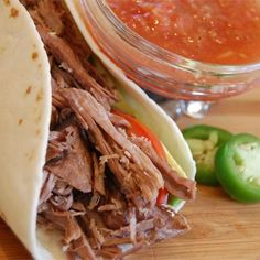 """Kris' Amazing Shredded Mexican Beef I """"Muy bueno! This is a delicious meat filling for Mexican dishes...tacos, enchiladas, burritos....It was just the right amount of spicy for me, but I like the heat."""""""