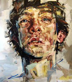 "Saatchi Online Artist: Andrew Salgado; Oil, 2012, Painting ""Parentheses"""